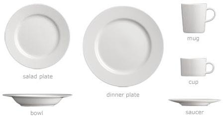 what dinnerware to register for