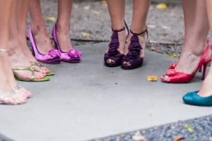 Bold Bridesmaid Looks: Bright Shoes