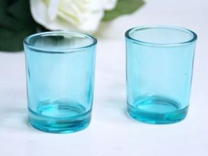 Wedding Table Decor: Colored Votive Holders