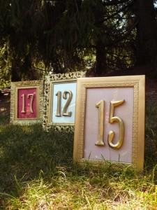Vintage Wedding Table Numbers