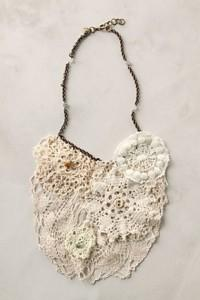 Bridal Jewelry: Anthropologie Lace Necklace