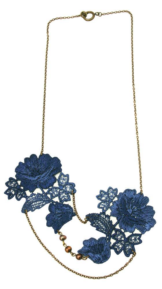 Bridal Jewelry: Rebecca Blue Lace Necklace