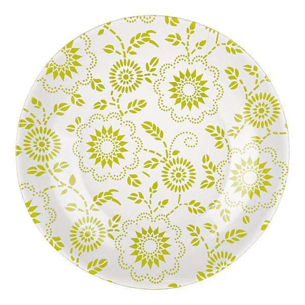 Wedding Decor Idea: Green/Orange Dessert Plates