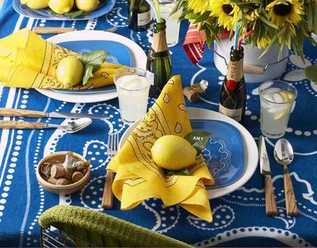 Wedding Table Idea: Bandana Napkins