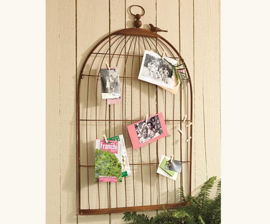 Reception Decor: Birdcage Card Holder