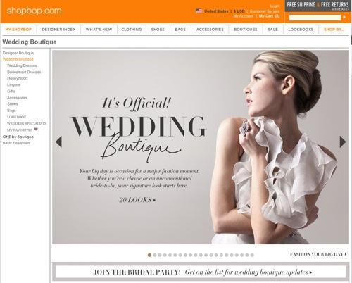 Best of ShopBop's Wedding Boutique