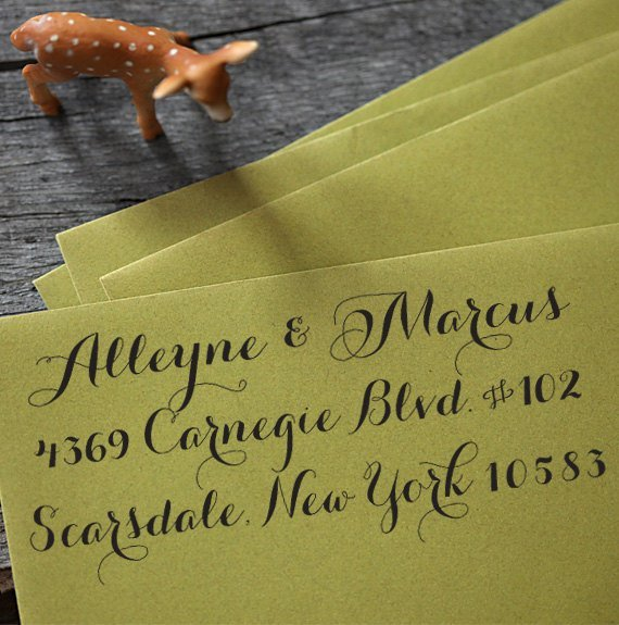 Wedding Invites: The Perfect Return Address Stamp