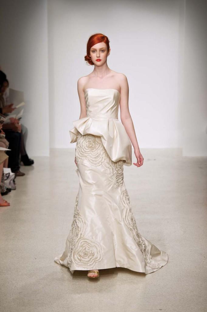 The Best Peplum Wedding Dresses
