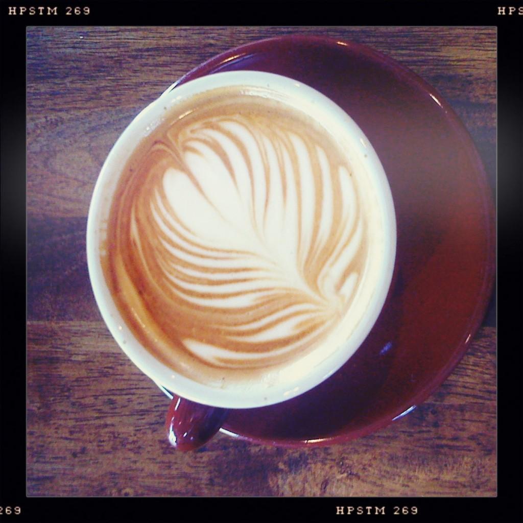 A cappuccino at Crema