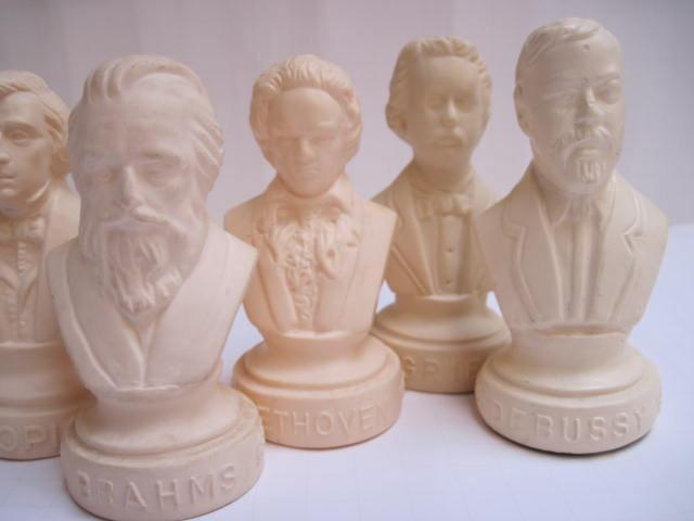 Reception Decor: Composer Busts
