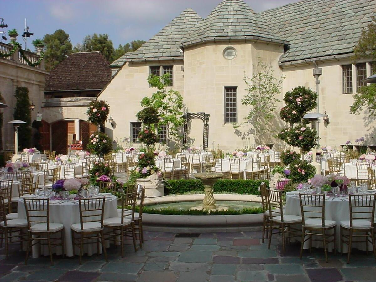 Greystone Mansion & Gardens Inner Courtyard | Catered by Made By Meg