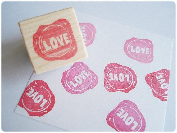 rubber wedding stamp