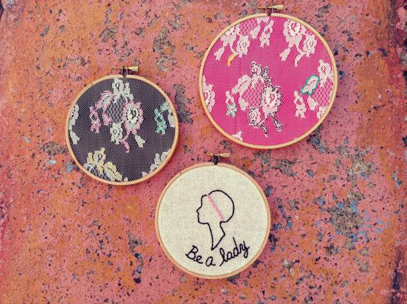 Fun Wedding Accessory: Embroidery Hoops