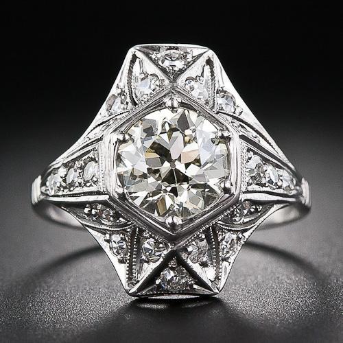 art deco engagement ring