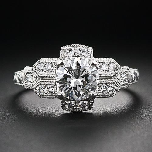 The Best Art Deco Engagement Rings | Woman Getting Married Blake Lively Ring
