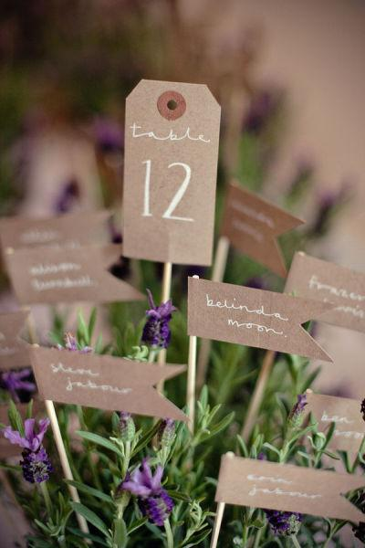 wedding escort cards planters