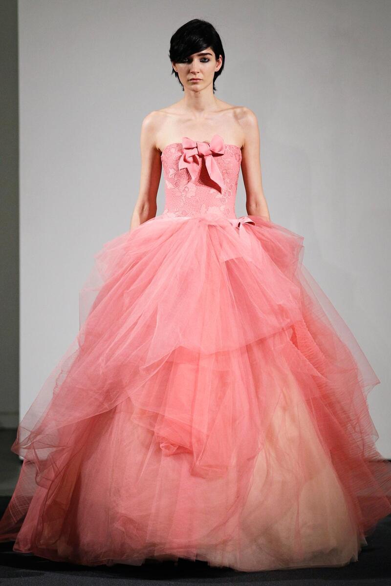 Pink Vera Wang Wedding Dress