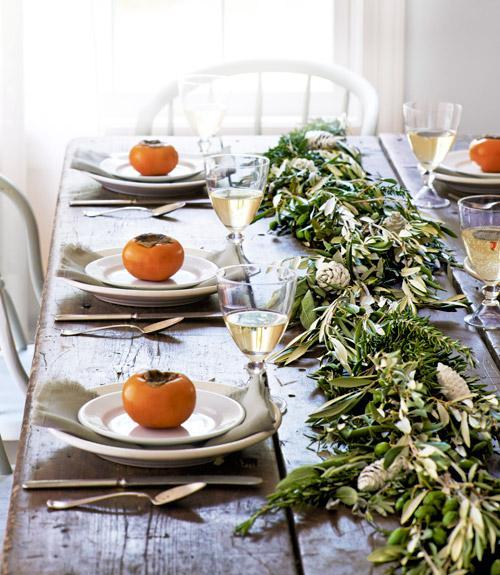 diy herb and olive leaf garland wedding centerpiece fall