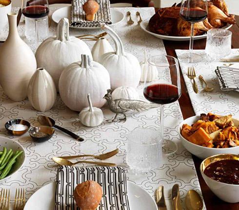 white pumpkin fall wedding centerpiece