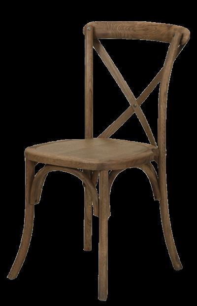 cross back wedding chair rental