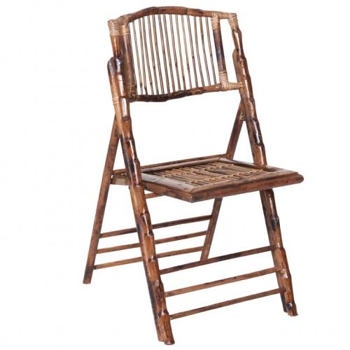 bamboo folding chair wedding rental