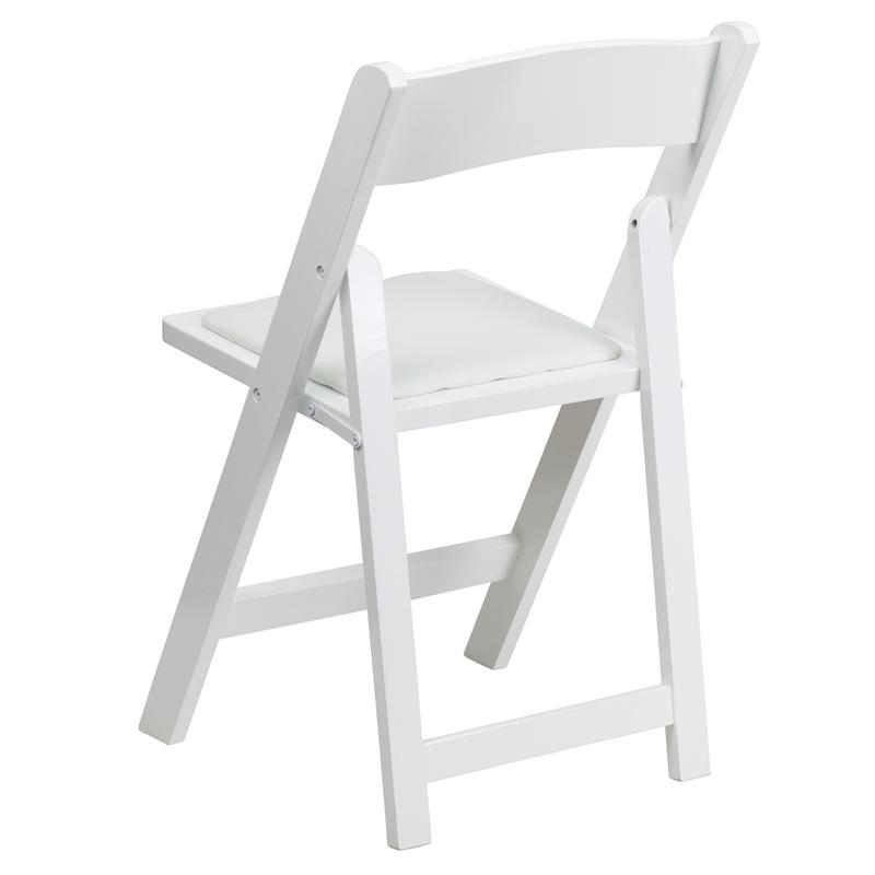 white wood folding chair wedding rental