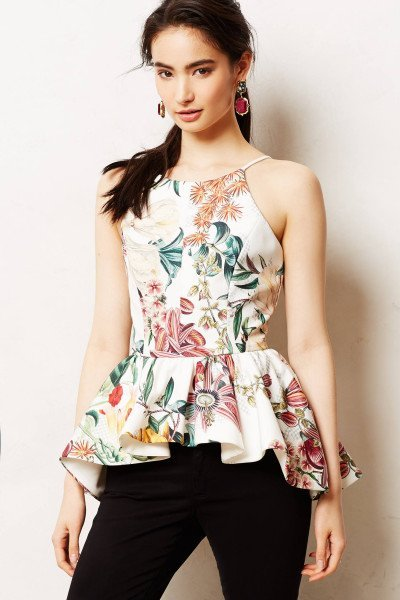 dahlia peplum top