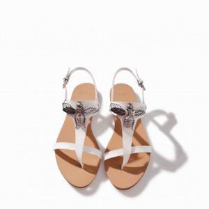 Zara Flat Leather Sandal, $59.90