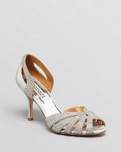 Badgley Mischka Peep Toe D'Orsay Evening Sandals - Tatiana High Heel, $235