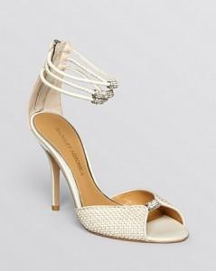 Badgley Mischka Open Toe Evening Sandals - Kandyce High Heel, $235