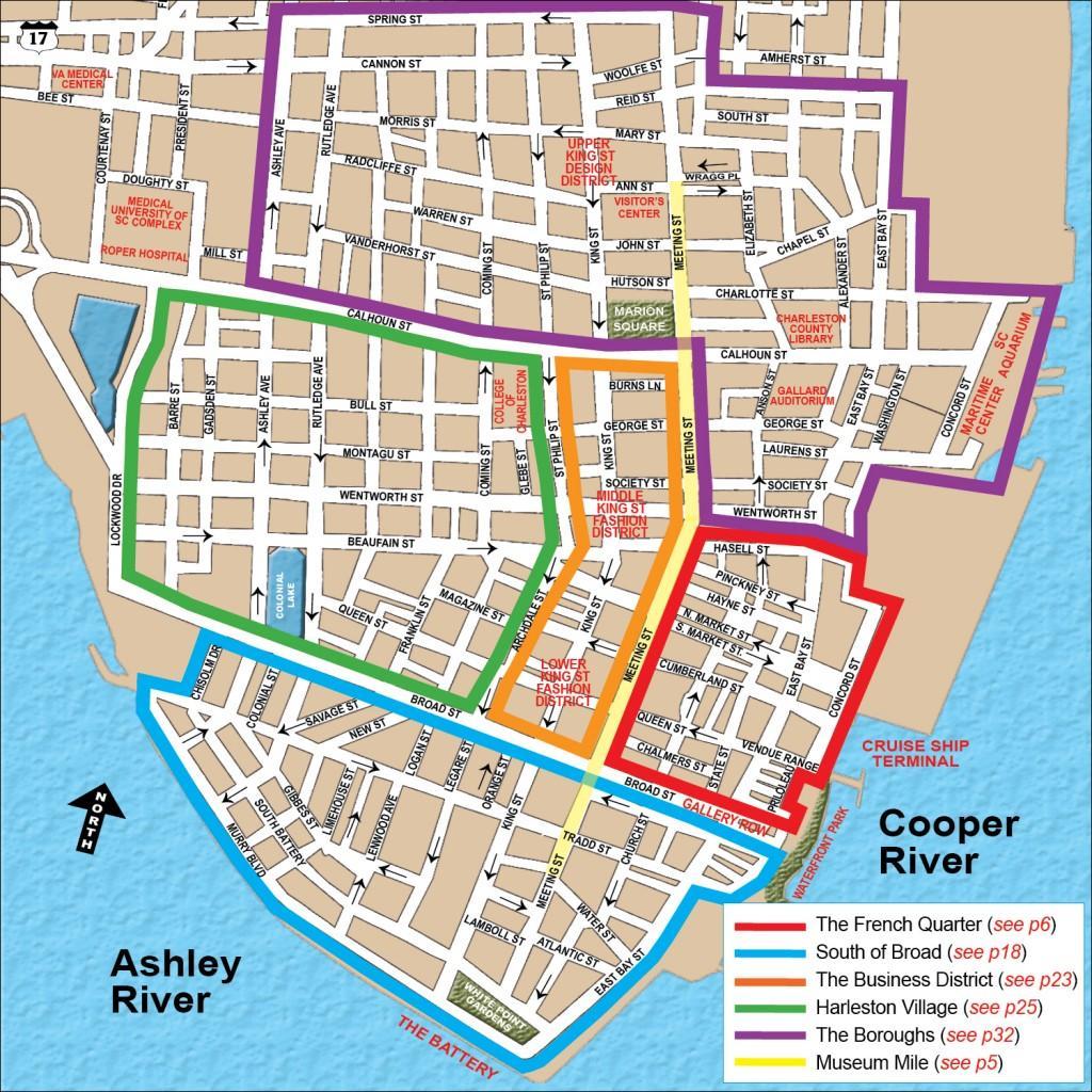 charleston walking map