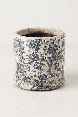 Anthropologie Daylily herb pot, $8