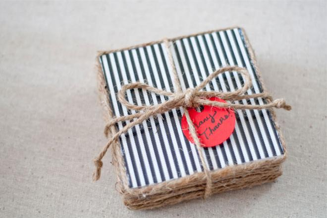handmade coasters wedding favor
