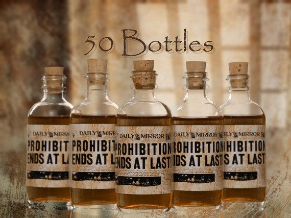 bottles wedding favor