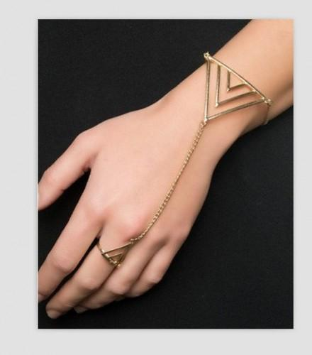 Etsy Find: Triangle Bracelet Ring