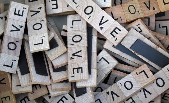 scrabble wedding favors