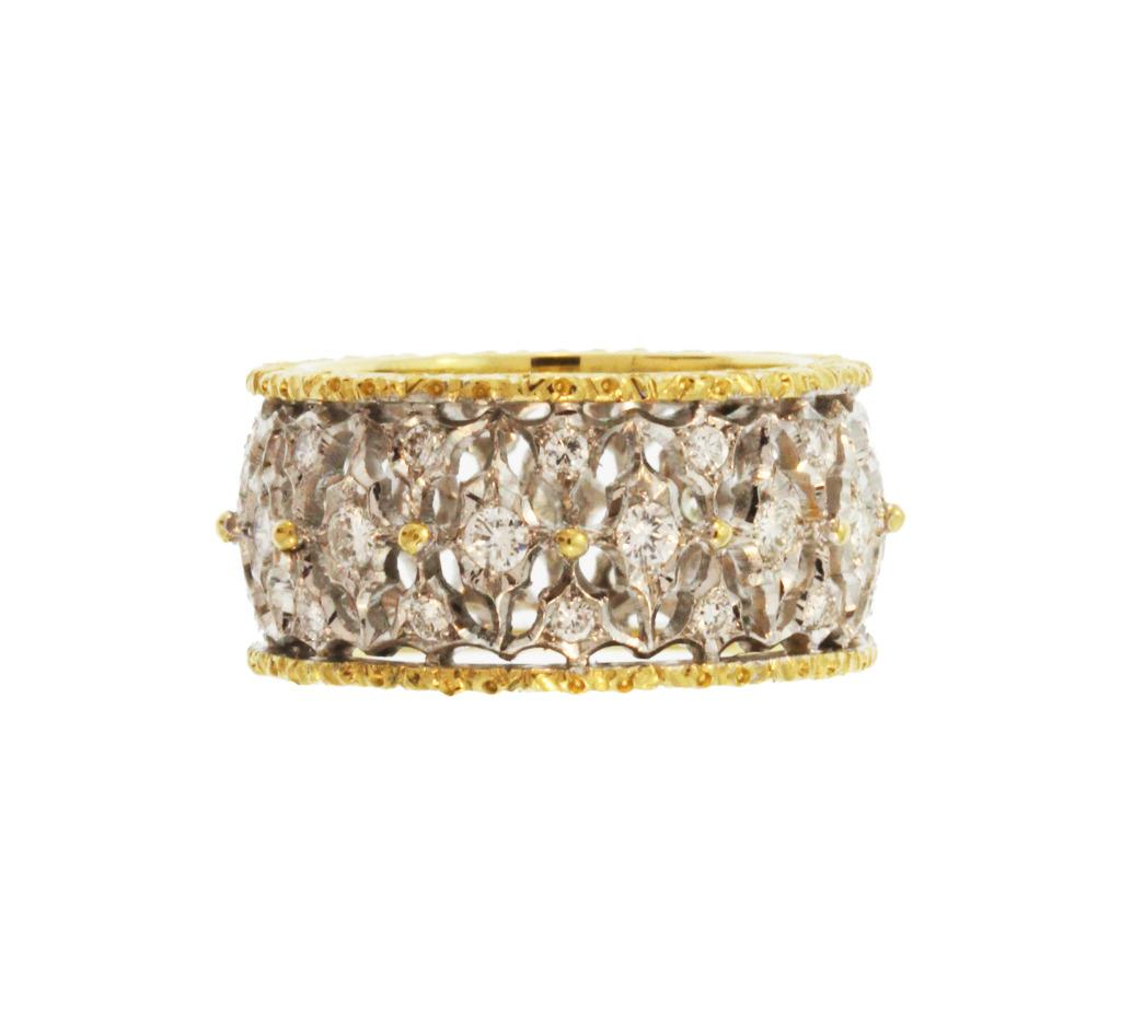 Buccellati Diamond and Gold Band Ring, $12,450