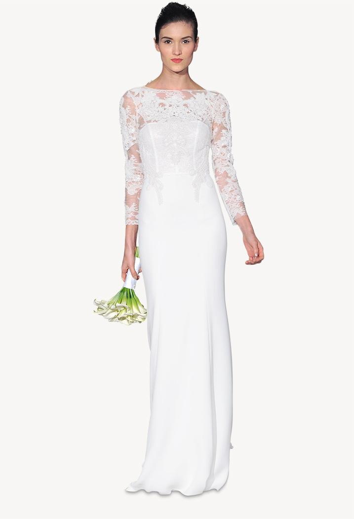 How much a carolina herrera wedding dress will cost you for Average cost of wedding dress
