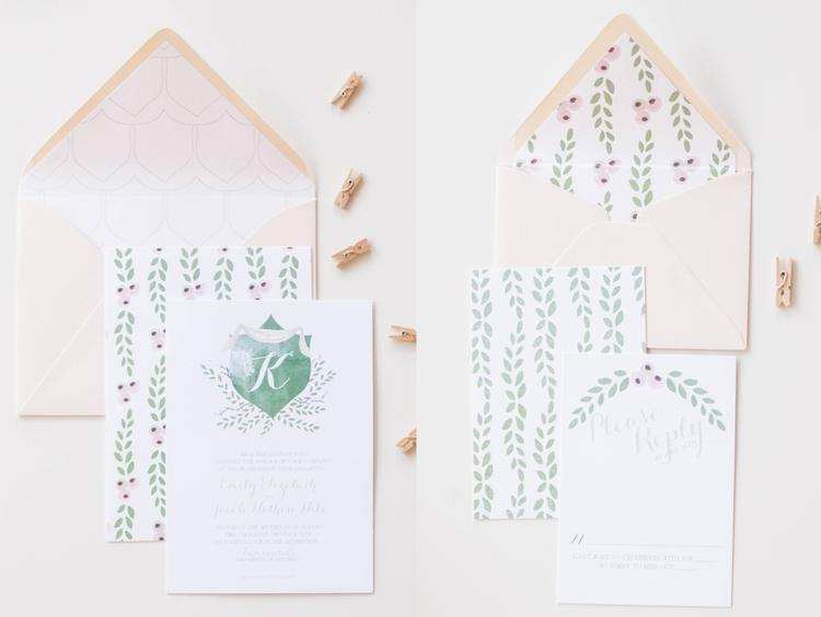 Moira Design Studio, Paige Collection, From $1,010 for 100 invites