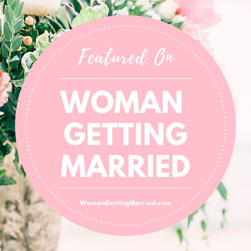 Woman Getting Married Badges