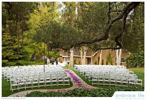 Calamigos ranch wedding venue Garden wedding venues los angeles