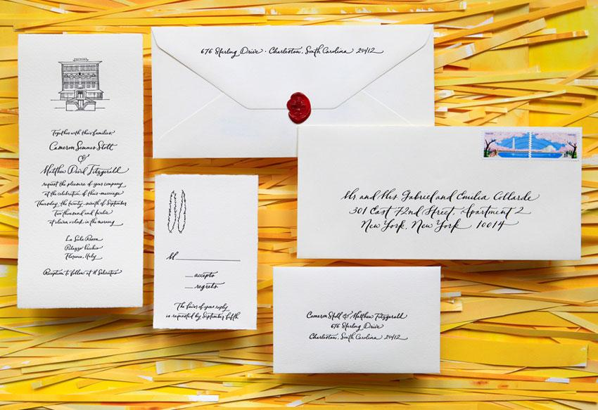 Paperfinger,  Illustrated Arturo Invitation Suite