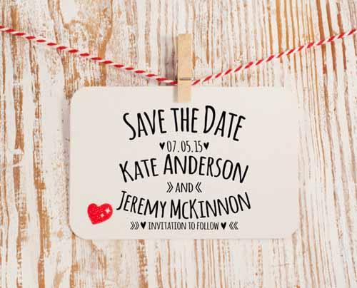 Save The Date Stamps Woman Getting