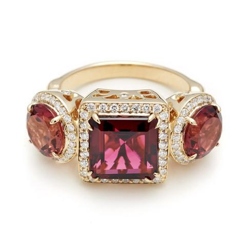 Tourmaline Astarte Ring by Anna Sheffield