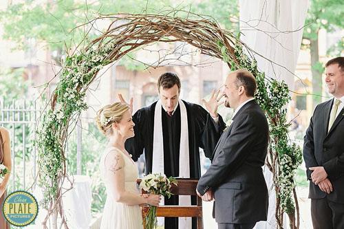 old stone house wedding