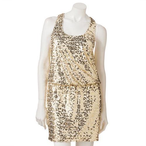 Kohl's City Triangles Sequin Racerback Dress, $60.99
