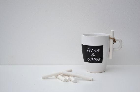Chalkboard mug by Kriips on Etsy, $8.33
