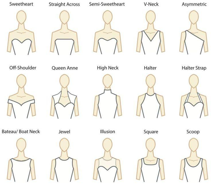 The best wedding dress necklines woman getting married for Wedding dress neckline styles