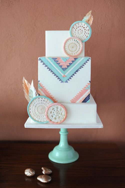 Cake by Avalon Cakes   Photography by Julie Cate   Event Design by Revel and Bloom  Found on Ruffled