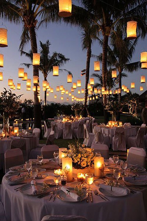 DIY wedding decorations beach lanterns